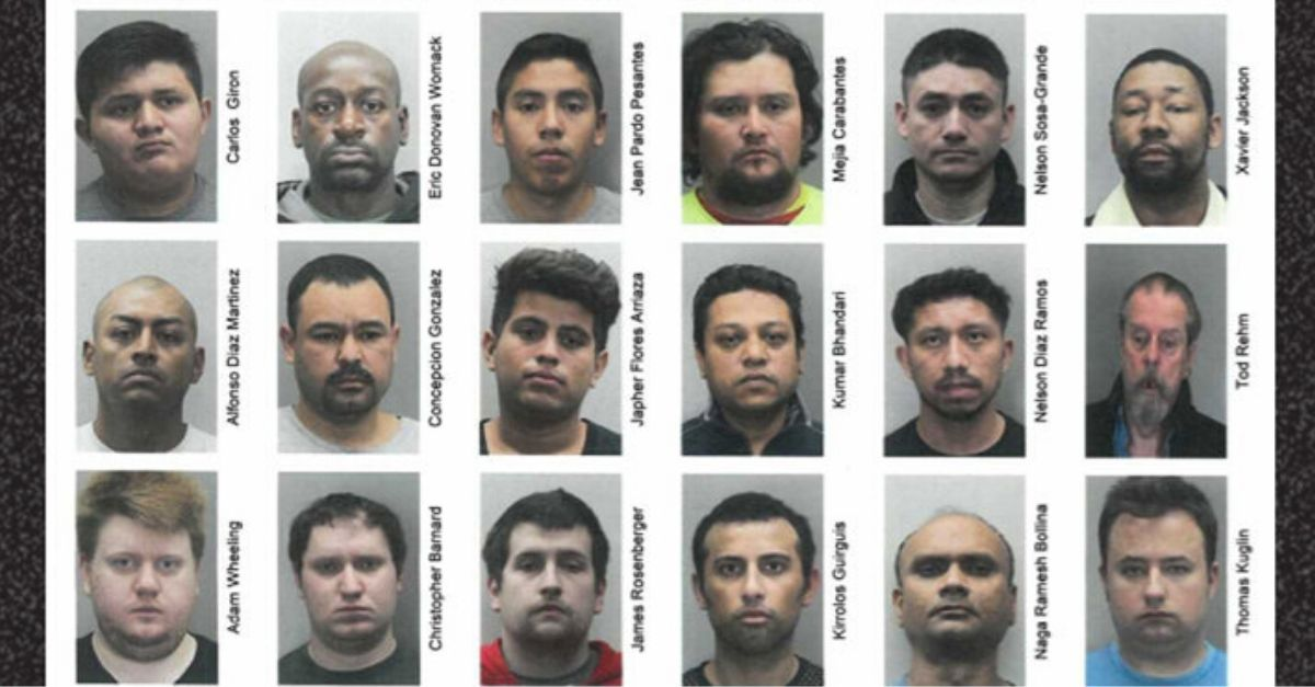 30 Pedophiles Arrested For Attempting to Meet up with Children For Sex
