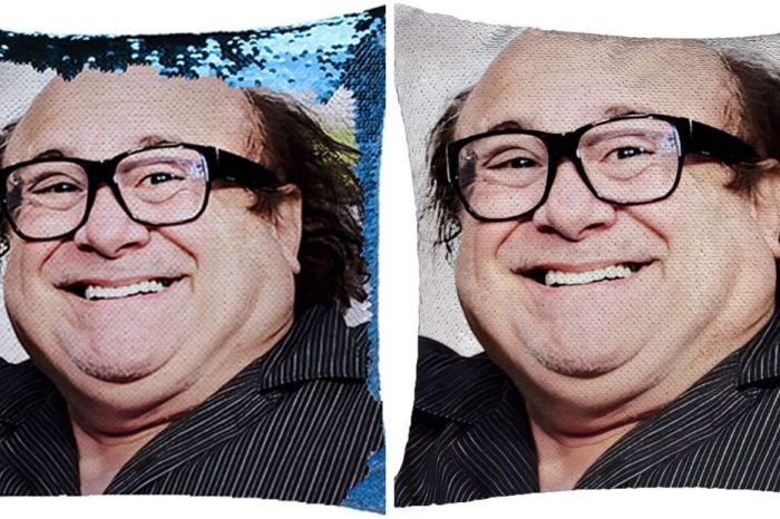Get Cozy With a Danny DeVito Mermaid Sequin Pillow