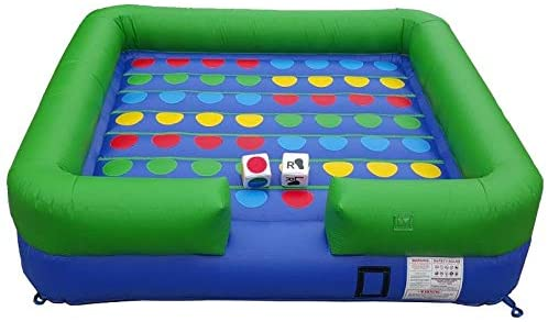 Pogo Bounce House Twister Crossover 13' x 13' Inflatable Interactive Game - Includes Blower, Stakes, Two Over-Sized Dice,