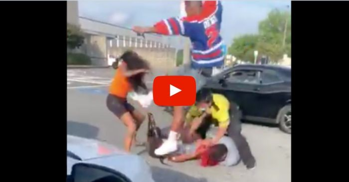 Trashy Brawl Breaks Out at Mall Parking Lot After it Re-Opened