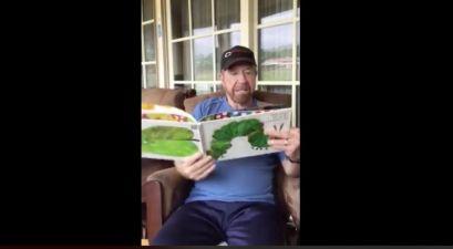 Chuck Norris Joins Gov. Abbott for Special Storytime Reading