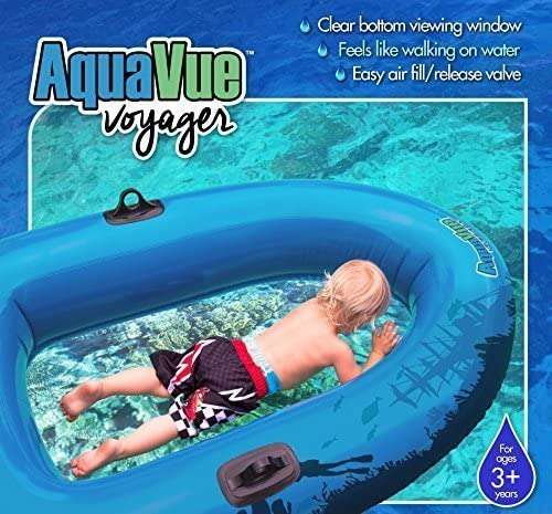 Sieco Design AQUAVUE Voyager Clear Bottom Inflatable Raft, for Kids and Adults