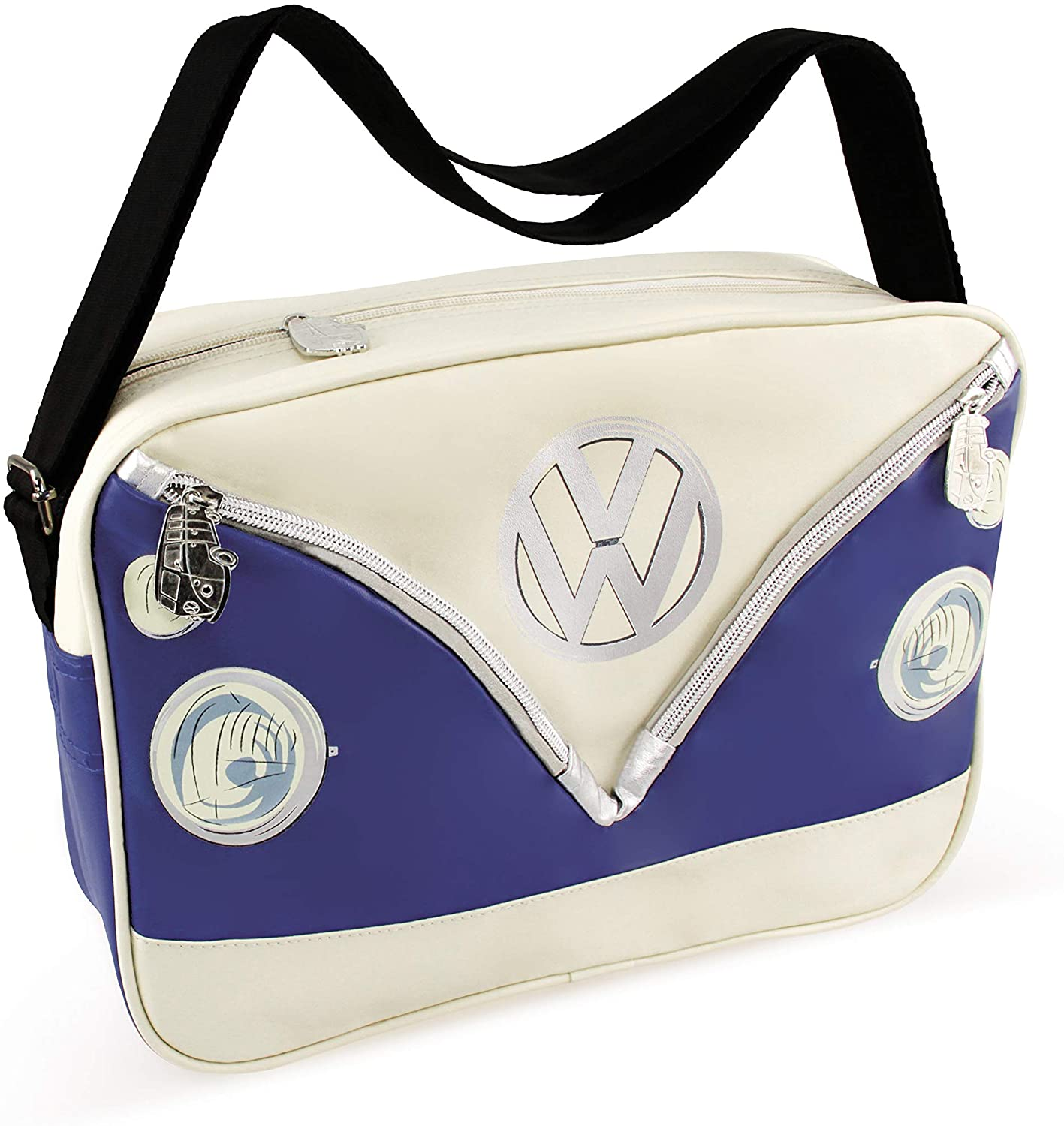 BRISA VW Collection - Volkswagen Samba Bus T1 Camper Van Shoulder Bag (Blue)