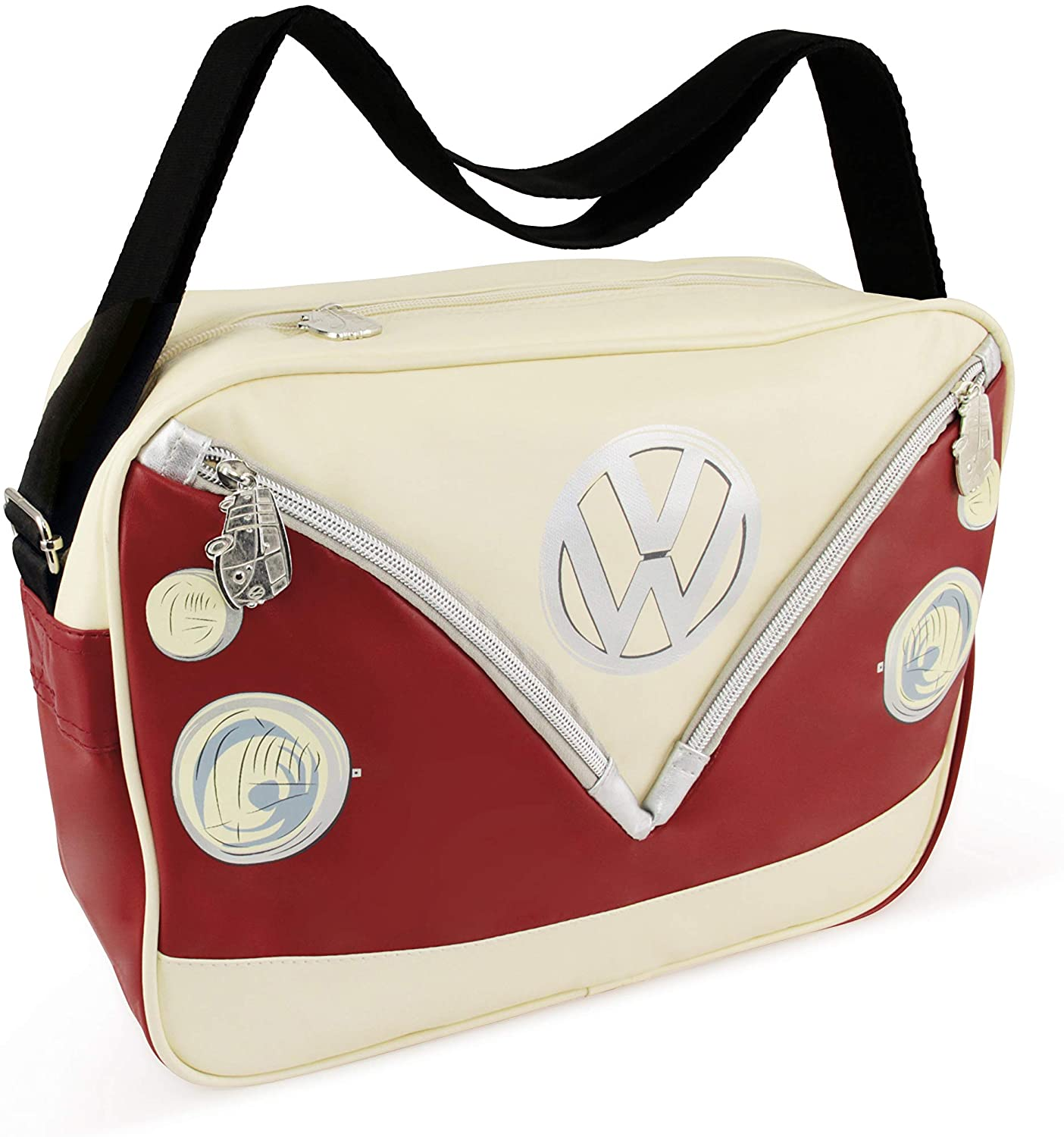 BRISA VW Collection - Volkswagen Samba Bus T1 Camper Van Shoulder Bag (Red)