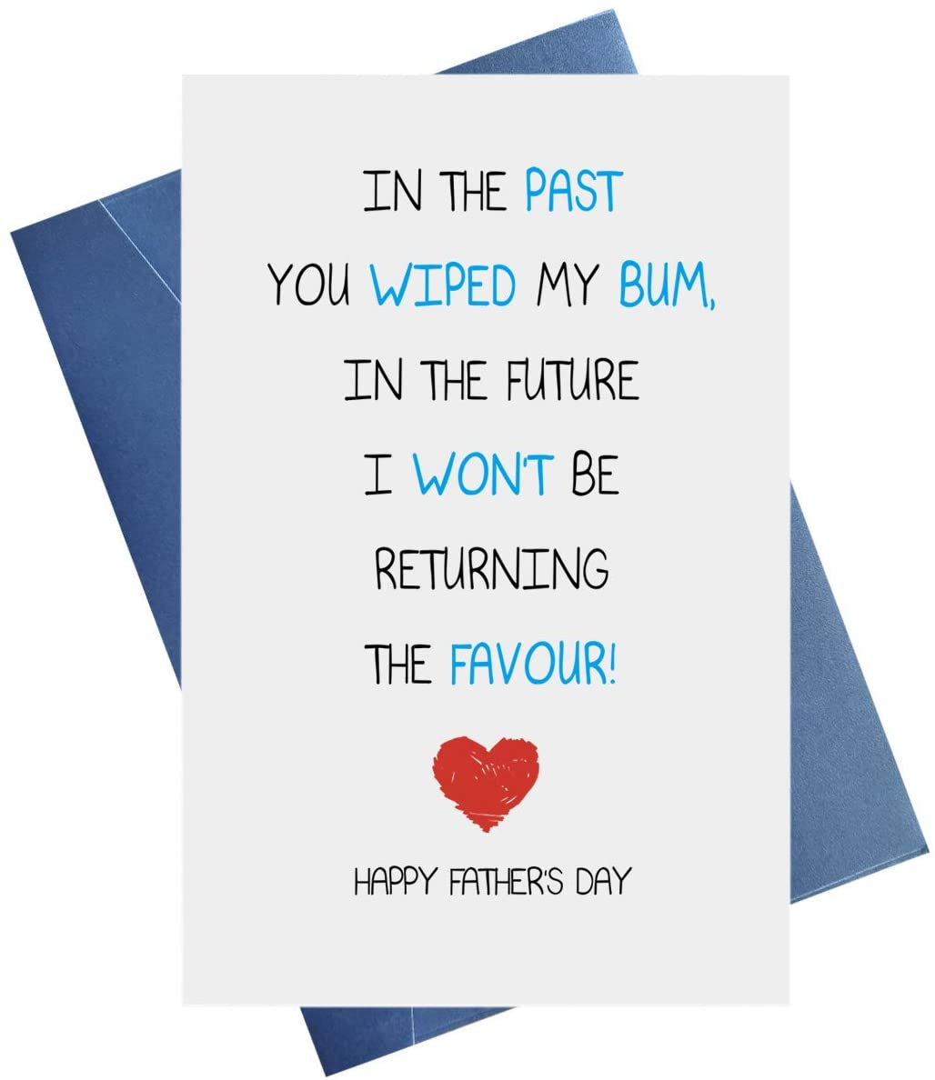 Funny Happy Father's Day Card, Fathers Day Card Funny, Funny Card for Dad, First Daddy Card