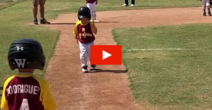 3-Year-Old Creates Hilarious Live Version of Slow-Motion Run to Home Base