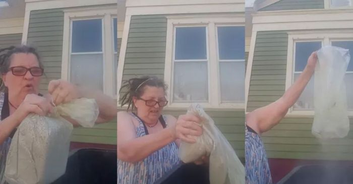 Wife Celebrates Abusive Husband's Death By Dumping His Ashes In The Trash