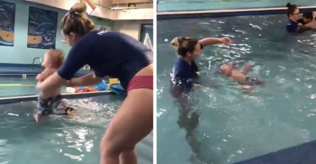 Viral Video Shows 8-Month-Old Being Thrown in the Pool, Sparks Outrage