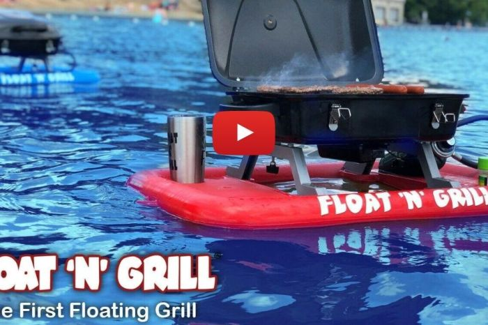 The Float 'N' Grill Is the Floating Grill Dads Have Been Dreaming Of