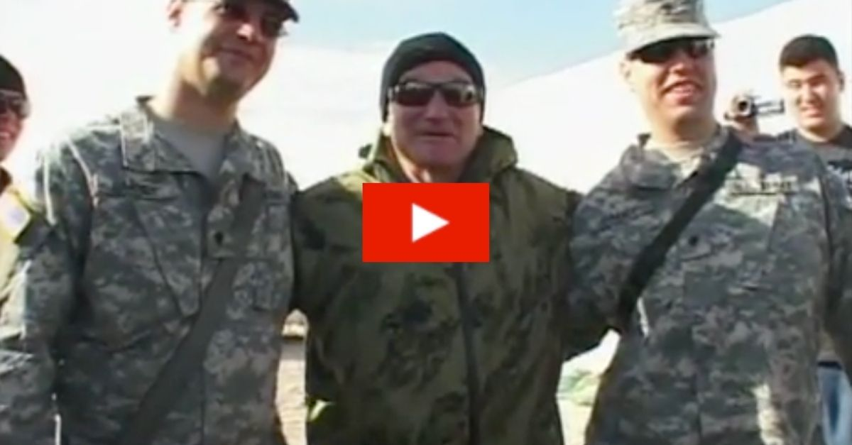 Flashback: Remember Robin Williams' Hilarious Response When Troops in Kuwait Interrupted His Show?