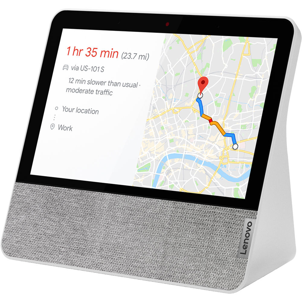 "Lenovo Smart Display 7"" with the Google Assistant - MediaTek 8167S - 2GB RAM - 4GB eMMC - Blizzard White"