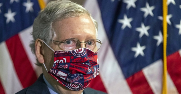 Since Trump Won't, Senate Leader Mitch McConnell Becomes Leading Republican Preaching Masks