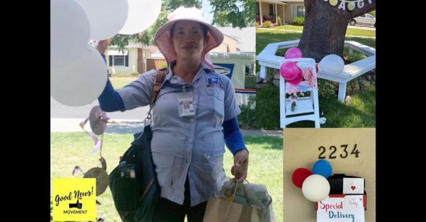 California Community Decorates Mail Route for Their Pregnant Postal Worker