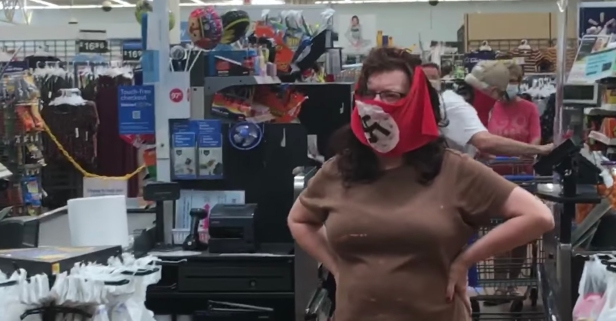 Shoppers Confront Couple in Nazi Masks at Walmart
