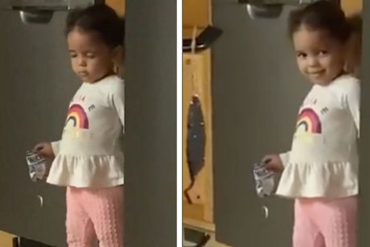 Toddler Hilariously Pretends to Fall Asleep After She's Caught Stealing Snacks