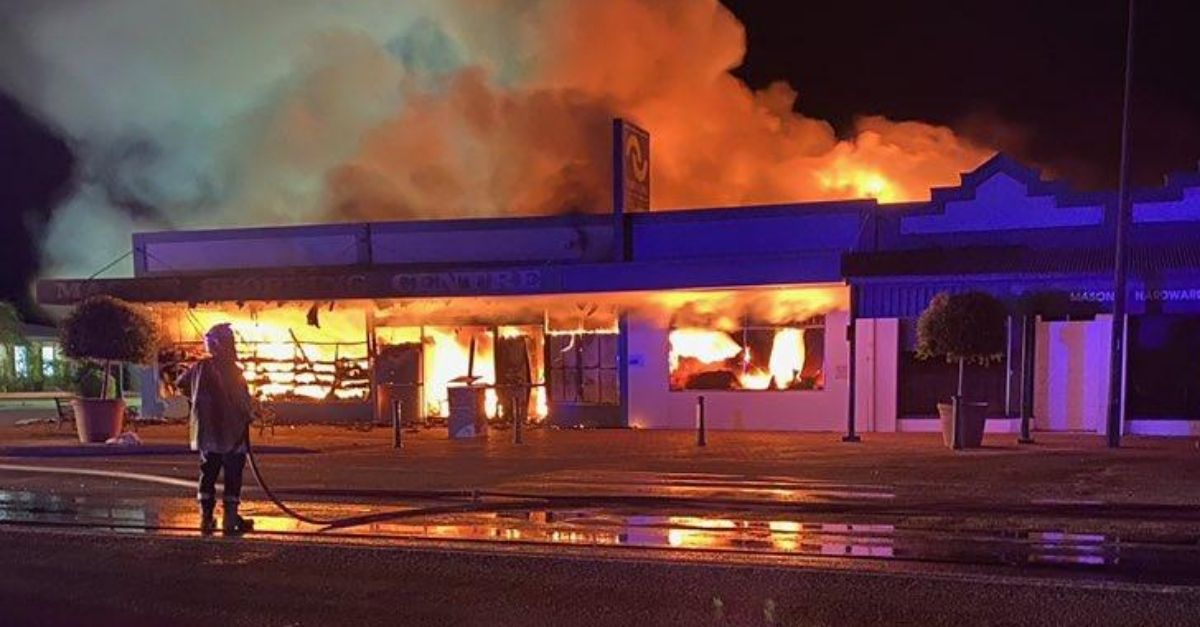 Grocery Store Owner Sets Own Shop on Fire to 'Kill' Coronavirus Germs