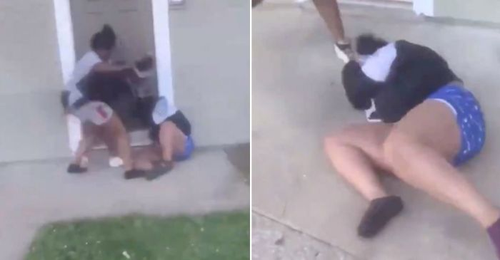 Devastating Video Shows Teenagers Beating Pregnant Mom and Toddler