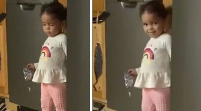 Toddler Pretends to Fall Asleep After She's Caught Stealing Snacks
