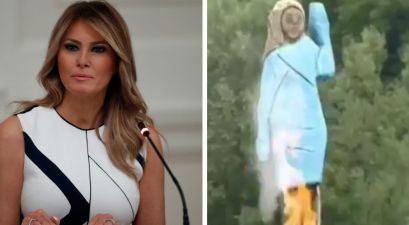 Melania Trump Statue in Slovenia Removed After Being Set on Fire