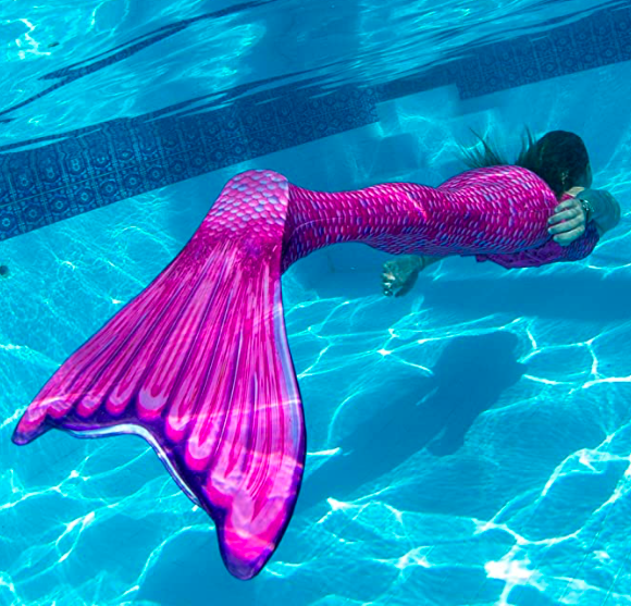 Fin Fun Wear-Resistant Mermaid Tail for Swimming with Monofin Insert for Girls, Boys, Adults