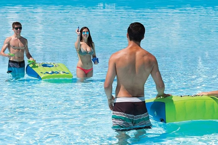 Take Your Cornhole Skills to the Swimming Pool With an Inflatable Cornhole Set