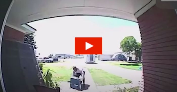 Fedex Driver Caught on Camera Refusing to Help a Fallen 89-Year-Old Man