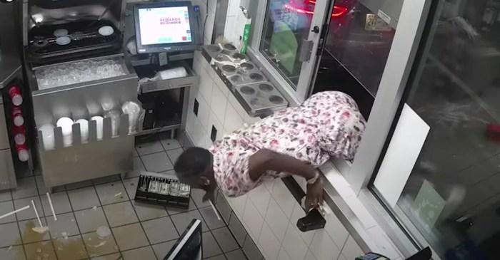 Man Jumps Through Wendy's Drive Thru Window, Goes Berserk