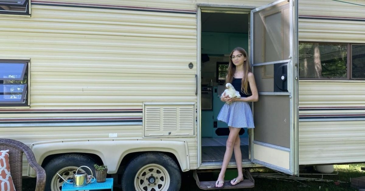 11-Year-Old Transforms RV Into Her Own 'Time Home' For $800