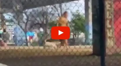 Practically Naked Man Covers His Entire Body in Peanut Butter and Visits Texas Dog Park