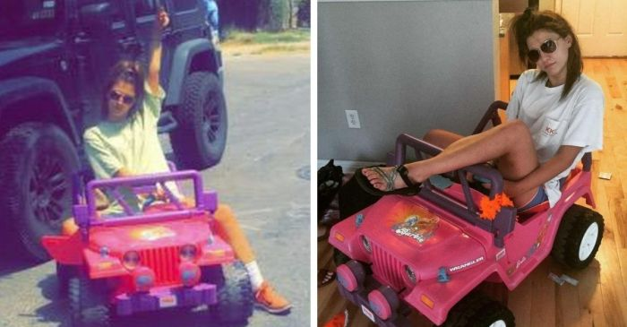College Student Drives Barbie Jeep Around Campus After Getting DWI