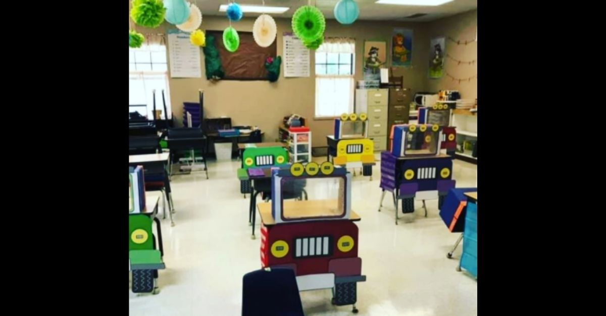 "Teacher Creates Social Distanced ""Truck Desks"" for Safer and More Fun Learning"