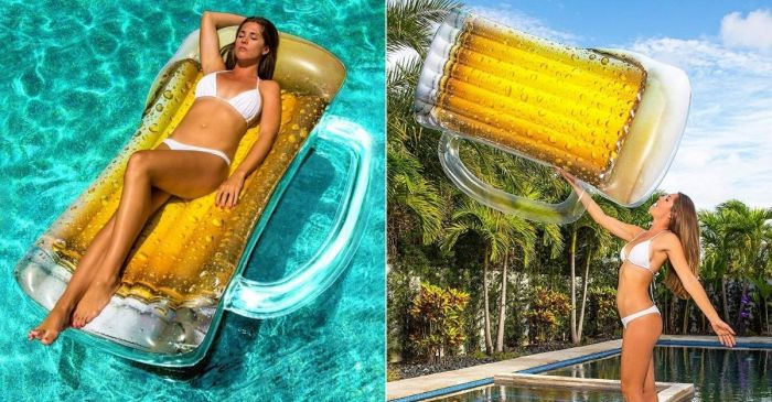 The Beer Mug Pool Float Is the Only Pool Lounger Beer Lovers Need
