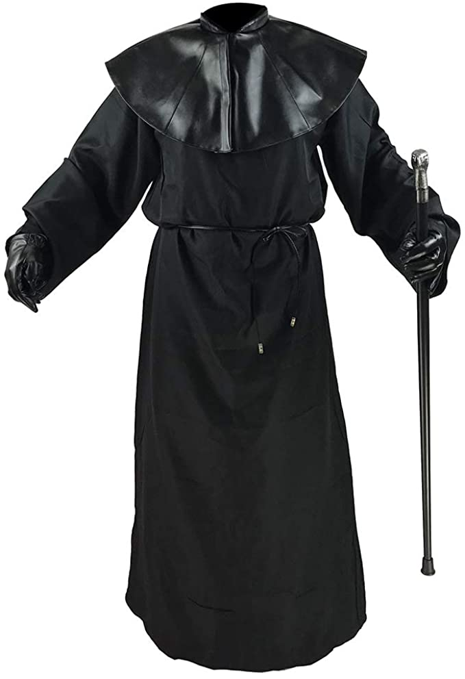 Absolute Vibe Plague Doctor Costume Cloak Robe Halloween Props Medieval Monk Priest Renaissance Cosplay