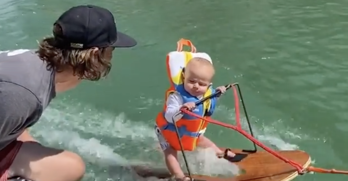 Baby Water Skiing
