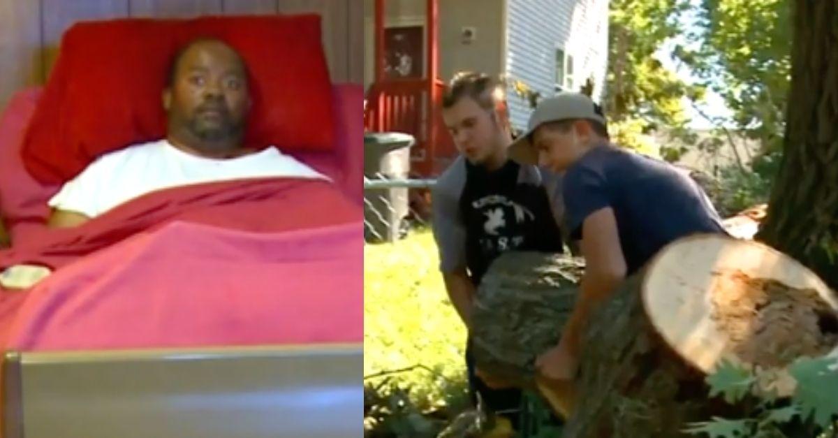 High School Football Team Cleans Paralyzed Man's Yard Destroyed by Derecho Storm