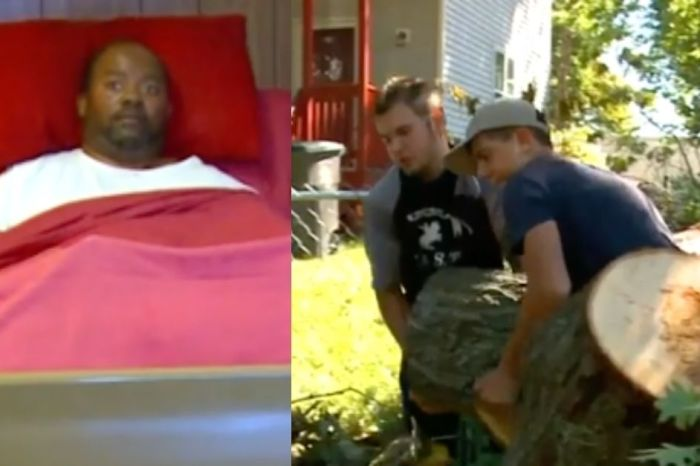 High School Football Team Cleans Paralyzed Man's Yard Destroyed by Derecho Storm