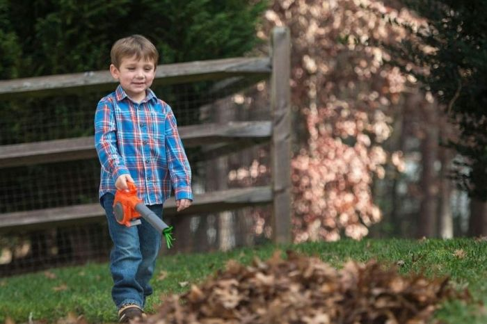 This Toy Leaf Blower is Perfect for Kids Who Enjoy Yard Work