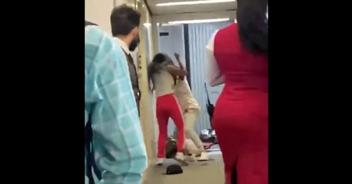 Brutal Brawl Between Two Women Breaks Out in Airport Jet Bridge