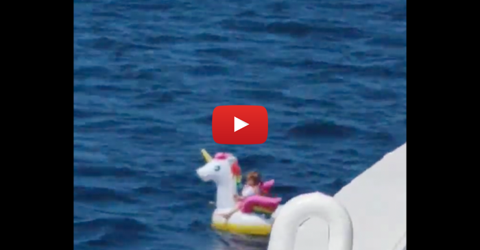 3-Year-Old Girl Blown Out to Open Ocean on Unicorn Raft Gets Dramatic Rescue