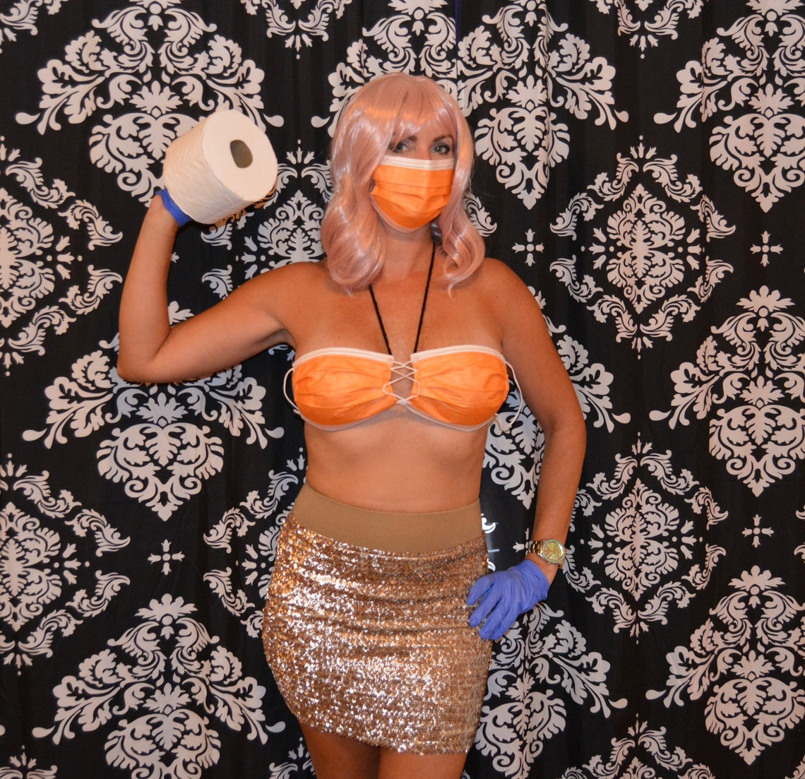 Coronavirus Mask Costume This Halloween Costume Is Made From Masks Rare
