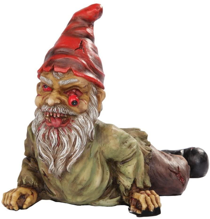 PTC 7 Inch Resin Scary Crawling Zombie Garden Gnome Décor Figurine