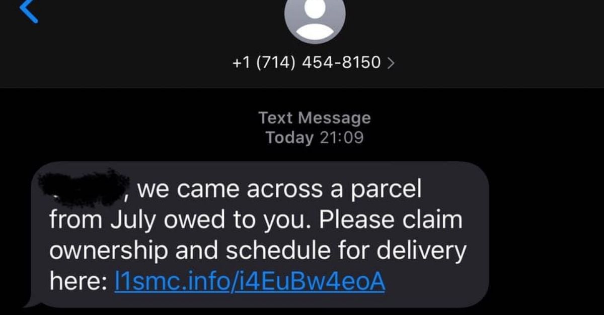SCAM ALERT: Officials Warn of 'Package Pending' Text Scam Containing Recipient's Name