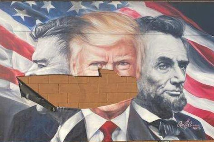 Mural of US Presidents Donald Trump, Reagan, and Lincoln Vandalized in Tennessee