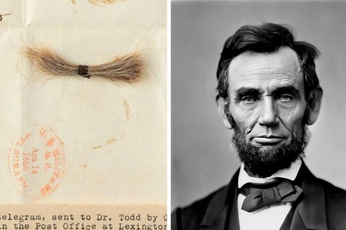 Someone Paid Over $81,000 For Abraham Lincoln's Blood-Stained Lock of Hair
