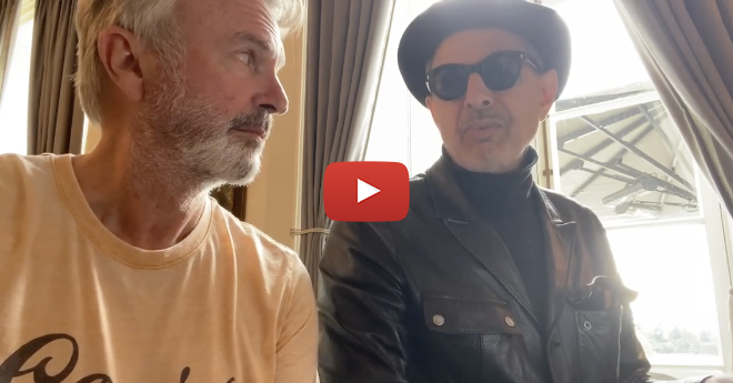 'Jurassic Park' Stars Jeff Goldblum and Sam Neill Sing Together, Play Piano on Instagram