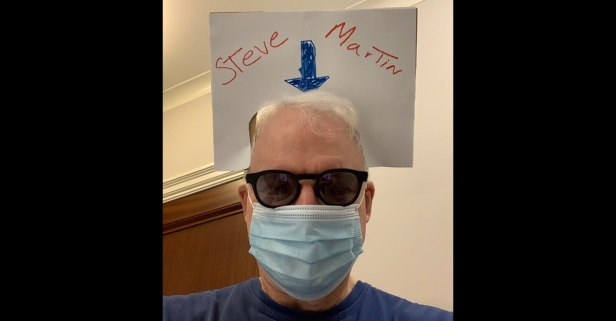 Steve Martin Comes Up with Perfect Way for Needy Celebs to Get Recognized While Wearing Facemasks