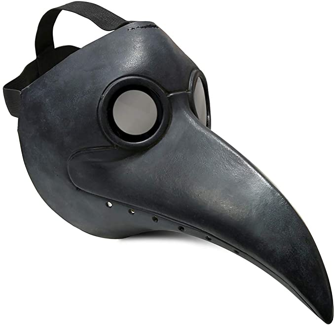 Townshine Plague Doctor Bird Mask Latex Long Nose Beak Cosplay Steampunk Halloween Mask Costume Props