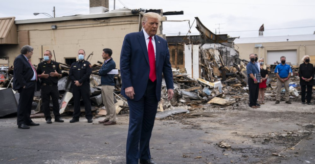 Owner of Burned Kenosha Business Accuses Trump of Misleading Public