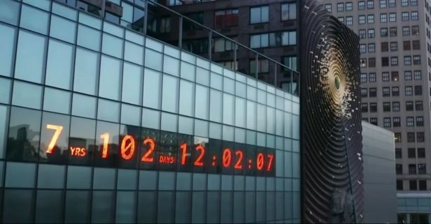 Massive Digital Clock in NYC Counts Down Global Climate Crisis Deadline