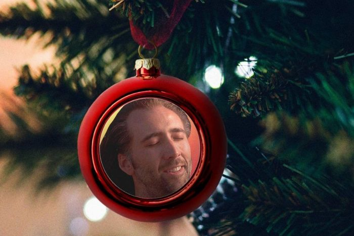 Nicolas Cage's Face Was Made to Be on Christmas Ornaments